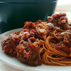 トマト缶/ミートボール料理/ミートボールスパゲティ/ミートボール/パスタ/食事情 カリオストロの城パスタ🏰✨