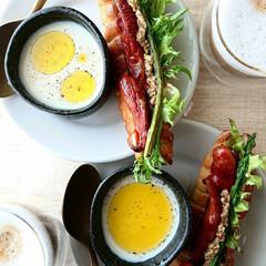 サタルニア チボリ ディナープレート 26 8003342024262(皿)を使ったクチコミ「朝ごはん 🔸ヴィエノワレタスドック 🔸蕪…」