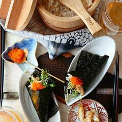 べんりで酢/とびっこ/バター醤油/つぶ貝/手巻き寿司/寿司/... つぶ貝のバター醤油手巻き寿司