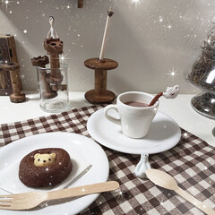 おうちカフェ ʕ·ᴥ·ʔさんのケーキ  美味しかった‼…