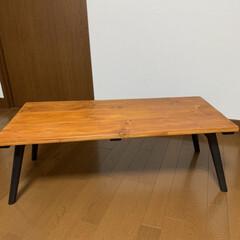 折りたたみテーブル/DIY/カフェ風 折りたたみテーブルをDIY🥰 使わなくな…(2枚目)