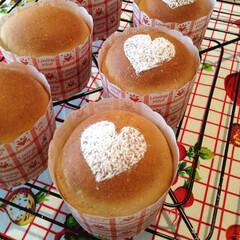 パン/手作りパン/菓子パン/チョコバナナ/甘党大集合 バレンタイン用に焼きました。 中にはチョ…