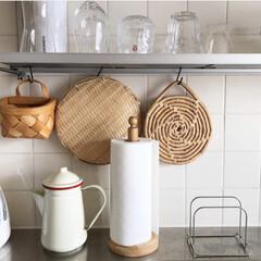 台所/日々/暮らし/北欧/社宅/キッチン/... 本当に古い社宅でキッチンも戸棚などに傷が…