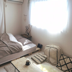 インテリア好き/暮らし/マイルーム/お部屋/塩系インテリア/白い部屋/... あったかくなってきたから日差しがサンサン…