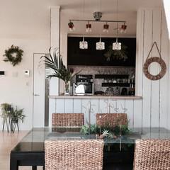 インテリア/DIY/壁紙DIY/IKEA/夏/ウォーターヒヤシンス/... 壁紙をDIYしてグリーンや小物を使って夏…
