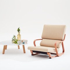 リビング/椅子 /座椅子/リビングダイニング/シンプル/家具/... 日本人の生活スタイルにマッチした低座リラ…
