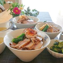 チャーシュー丼/チャーシュー/お昼ご飯/ランチ/作り置きおかず/作りおき/... 作り置きで サッサっとおうちランチ💕  …