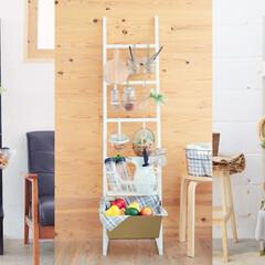八幡ねじ/DIY/壁面収納/はしご型/収納/おしゃれ/... 壁面に「見せる収納」を設置するときに悩む…(1枚目)