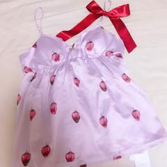 ジェラピケ/ピンク/苺/いちご柄/いちご/部屋着/... 可愛くて衝動買いしてしまったルームウェア…(1枚目)