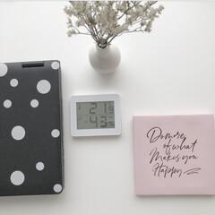 温度湿度計/フォロー大歓迎/冬/おうち/雑貨 乾燥しやすい冬の室内の温度と湿度を把握す…