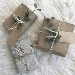 フォロー大歓迎/クリスマス/雑貨/100均/ダイソー/セリア/... 飾っておく用のダミープレゼントを作りまし…(1枚目)