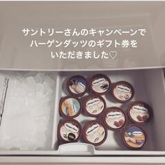 冷凍庫/フォロー大歓迎/スイーツ/キッチン サントリーさんのキャンペーンでハーゲンダ…