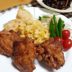 ザンギ/おうちごはん/暮らし/カボチャ/カボチャの天ぷら 今夜はザンギ💕 インスタの北海道のフォロ…