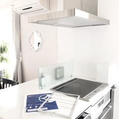 スターフィルター/掃除/換気扇フィルター/時短/コンロ周り 気分まで明るくなるような白い壁にピカピカ…