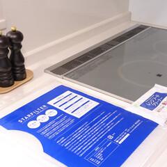 スターフィルター/キッチン/掃除/綺麗/毎日掃除/掃除グッズ/... 素敵なキッチンに青いパッケージ?  これ…