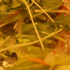 幸せ/はまち/カルパッチョ/生野菜/わたしのごはん はまちのカルパッチョ 生野菜とお造り、ソ…