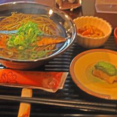 幸せ/わたしのごはん/にしん蕎麦/抹茶田楽/京都 にしん蕎麦御前 暖かいにしん蕎麦 抹茶で…