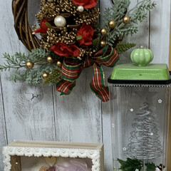 ツリー/リース/クリスマス/ツリーリース/リビング/キャンドゥ/... ツリーリースとキャンディポット風ボックス…(1枚目)