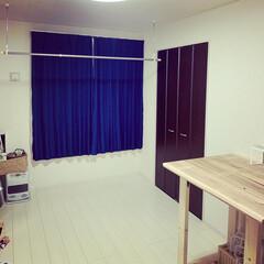 カフェ板/ランドリールーム/SPF材/生活の知恵/洗濯/DIY/... 2Fの部屋をランドリールームっぽくしまし…(1枚目)