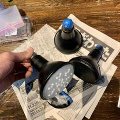 リビングインテリア/リビング/照明デザイン/照明計画/照明DIY/ライティングレール/... 過去DIYの紹介です。   僕の趣味のビ…(3枚目)