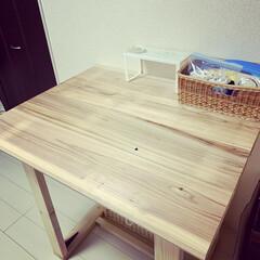 カフェ板/ランドリールーム/SPF材/生活の知恵/洗濯/DIY/... 2Fの部屋をランドリールームっぽくしまし…(2枚目)