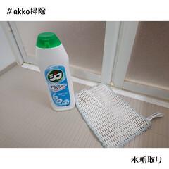 クリームクレンザー ジフ 270ml | ユニリーバ(クレンザー)を使ったクチコミ「ジフで水垢取り!!!  浴室ドア付近の水…」