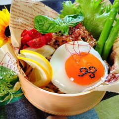 わっぱ弁当/お弁当/麺弁当/ガパオ麺/冷やしガパオ麺/ランチ/... 冷やしガパオ麺弁当