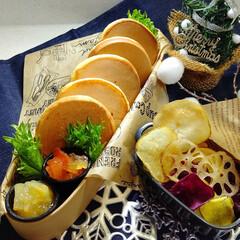 ランチ/お弁当/パンケーキ弁当/パンケーキ/手作りジャム パンケーキ弁当  *洋梨ジャム *りんご…