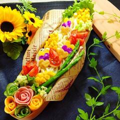 サラダうどん弁当/サラダうどん/麺弁当/お弁当/スタミナご飯/夏に向けて/... サラダうどん弁当