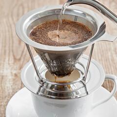 珈琲/コーヒー/ドリッパー/ステンレス/エコ/本格的/... 家や会社で本格的コーヒー♪ ステンレスの…
