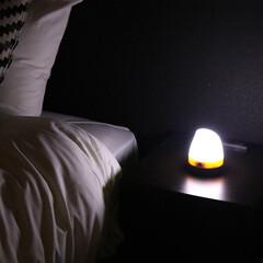 インテリア/LED/電気/ライト/便利/グッズ/... 防災時に役立つミニLEDランタン♪ ベッ…