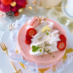 STRAWBERRY/Christmas/Cafe/cake/sweets/いちご/... 🎄クリスマスツリーケーキ  ツリーのよう…