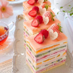 sweets/Cafe/cake/STRAWBERRY/fruits/stayhome/... 🍓フルーツミルクレープ  チーズクリーム…