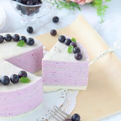 blueberry/crepe/萌え断/ブルーベリー/クレープ/ミルクレープ/... ブルーベリーミルクレープ  ホワイトミ…(4枚目)