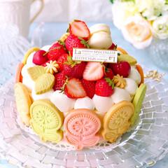 デコレーションケーキ/いちごスイーツ/いちごケーキ/手作りお菓子/手作りケーキ/手作りスイーツ/... 流行りの!? 絶望的に可愛いタルト 風で…(2枚目)