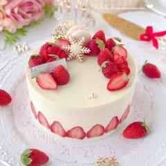 cake/Cafe/STRAWBERRY/cheesecake/sweets/いちごケーキ/... 🍓ホワイトチーズムースケーキ🍰フレジェ風…