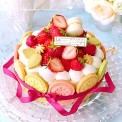 デコレーションケーキ/いちごスイーツ/いちごケーキ/手作りお菓子/手作りケーキ/手作りスイーツ/... 流行りの!? 絶望的に可愛いタルト 風で…
