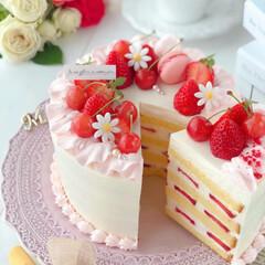 happybirthday/stayhome/cherry/Cafe/sweets/cake/... 🎂いちごとさくらんぼのデコレーションケー…(2枚目)