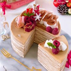 Cafe/cake/sweets/クリスマスケーキ/クリスマス/ティラミス風/... ❄️ティラミス風コーヒーミルクレープ  …