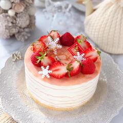STRAWBERRY/Christmas/クリスマス/cake/Cafe/sweets/... 🍓苺のミルクレープケーキ  ケーキのよう…(2枚目)