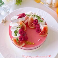 ムースケーキ/秋の味覚/Cafe/cake/sweets/LIMIAスイーツ同好会/... 🍓ラズベリーヨーグルトムースケーキ  ラ…