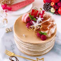 Cafe/cake/sweets/クリスマスケーキ/クリスマス/ティラミス風/... ❄️ティラミス風コーヒーミルクレープ  …(2枚目)