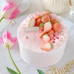 Thanks/happybirthday/bithdaycake/sweets/Cafe/STRAWBERRY/... 🎂Happy Birthday to m…(2枚目)