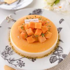 mousse/icecream/mango/Cafe/sweets/手作りデザート/... 🍨マンゴームース  冷凍マンゴーを使って…
