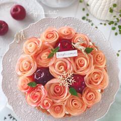 Apple/cake/Cafe/sweets/りんご/手作りおやつ/... 🍎アップルローズタルト  りんごの時季に…(1枚目)