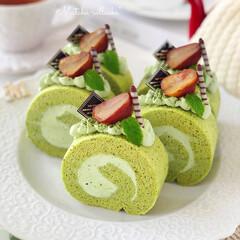 matcha/cake/Cafe/sweets/萌え断/手作りおやつ/... 今日11月6日は いいロールケーキの日な…