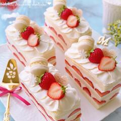 スイーツ作り/いちごスイーツ/いちご大好き/おうちカフェ/デコレーションケーキ/ホワイトケーキ/... 🍓いちごホワイトショートケーキ  ホワイ…