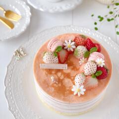Cafe/cake/sweets/STRAWBERRY/手作りスイーツ/手作りおやつ/... 🍓ストロベリー♡チーズミルクレープ クッ…(3枚目)