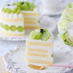 デコレーションケーキ/萌え断/シャインマスカットケーキ/シャインマスカット/ショートケーキ/cake/... 💚シャインマスカットケーキ  シャインマ…(3枚目)