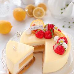 cheesecake/Cafe/cake/sweets/LEMON/手作りおやつ/... 🍋レモンムースケーキ  地元広島レモンで…